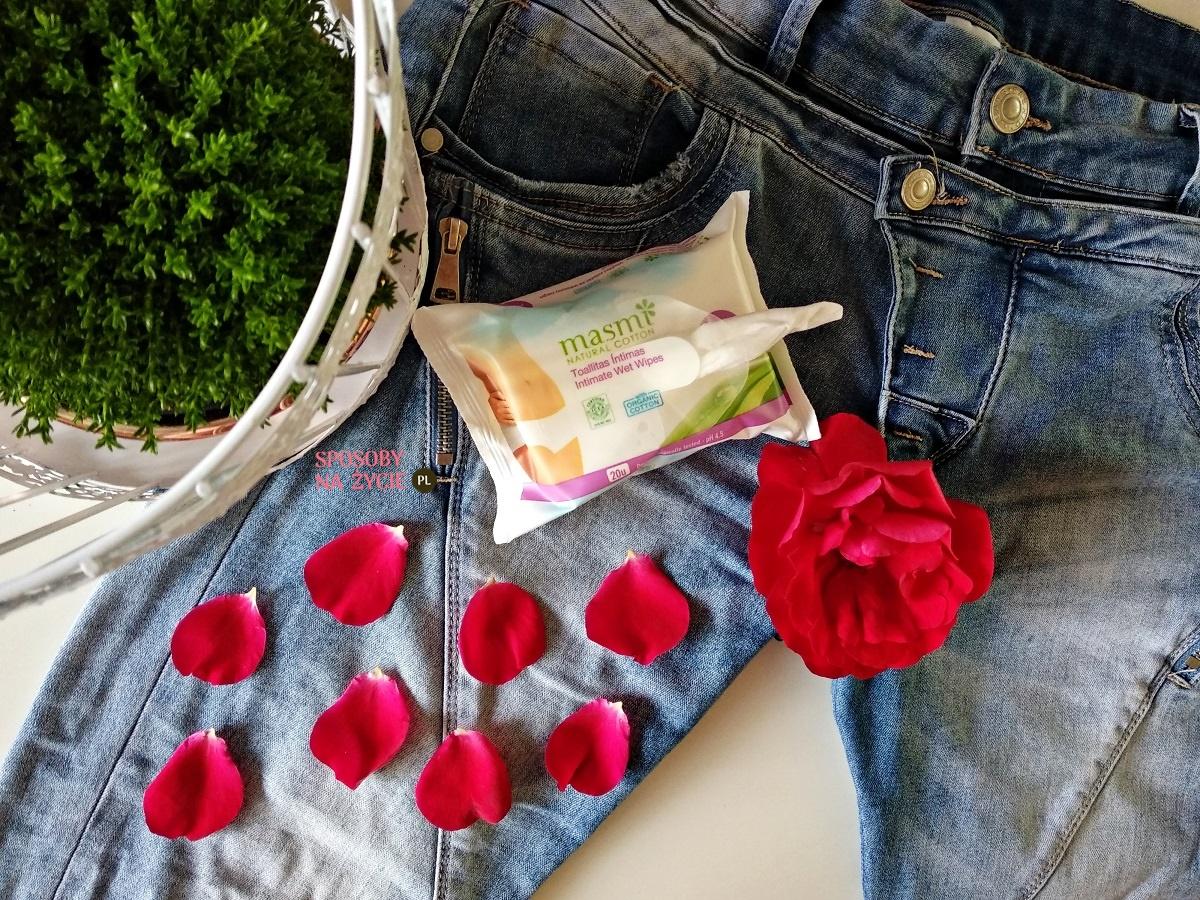 Wilgotne chusteczki do higieny intymnej Masmi Natural Cotton