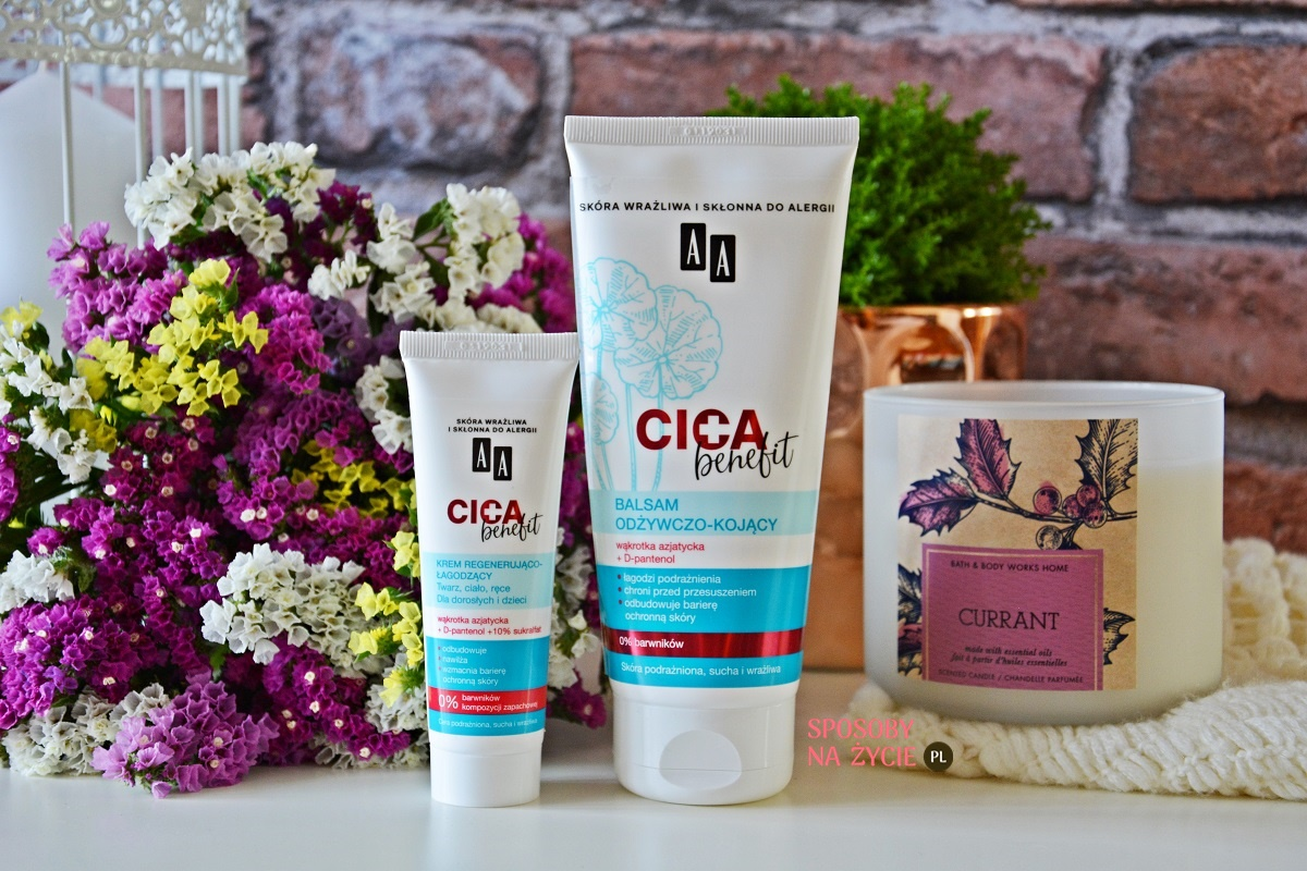 Kosmetyki regenerująco-łagodzące Cica Benefit AA – moja opinia