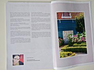 W kwietniu 2019 mój artykuł pt. Wiosenne prace w ogrodzie pojawił się w magazynie drukowanym MojeWnętrza.pl