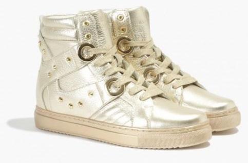 fot. sneakersy złote Andrea, Badura