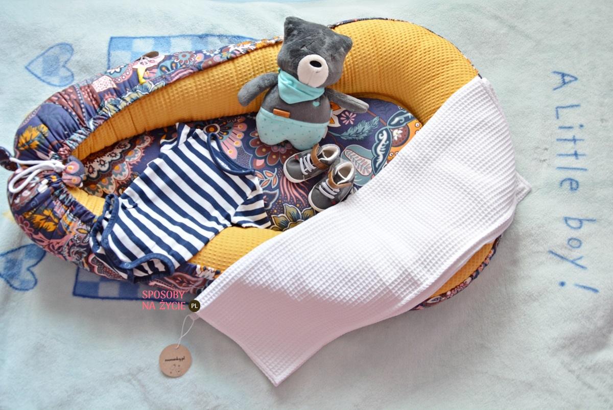 Kokon niemowlęcy i kocyk dla noworodka