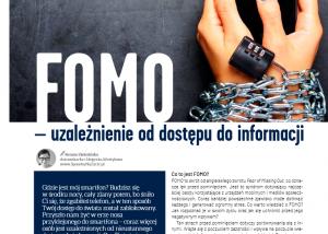 Mój artykuł pt. FOMO - uzależnienie od dostępu do informacji w magazynie Rodzina Zdrowia nr 20/2020