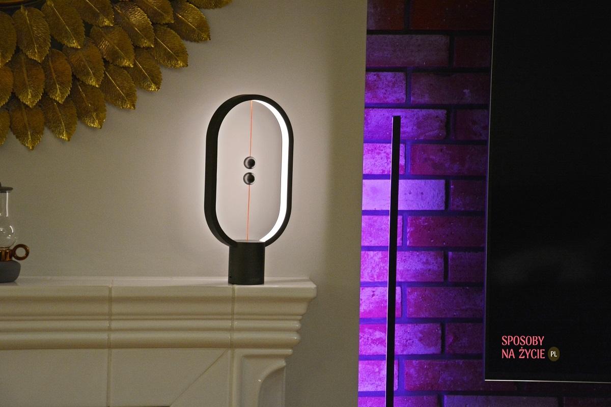 lampa narożna Edge LED RGB Aurelis oraz lampa magnetyczna Force Aurelis blog sposobynazycie.pl
