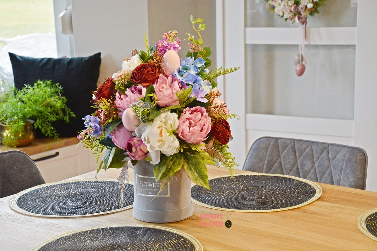 wielkanocny flower box blog o dekorowaniu wnętrz