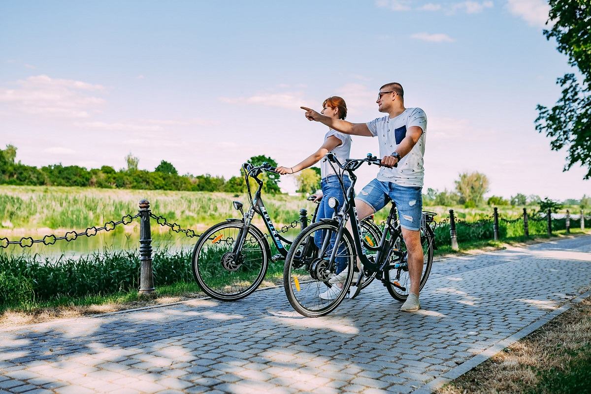 rower miejski jako środek transportu w mieście